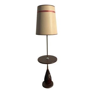 Mid-Century Ceramic Lava Base Floor Lamp