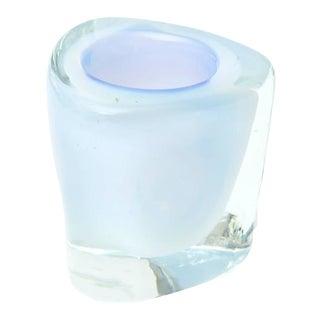 Italian Murano Opalescent Sommerso Glass Vessel/Small Vase