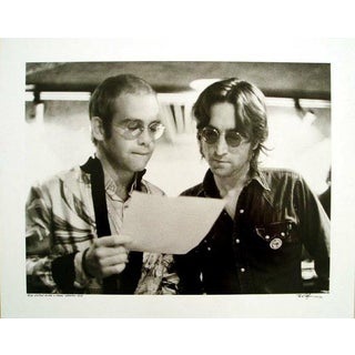 Bob Gruen-Elton John and John Lennon At Record Plant New York-1972 -SIGNED