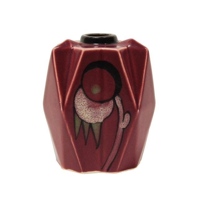 Image of Art Deco Czech Cubist Bud Vase