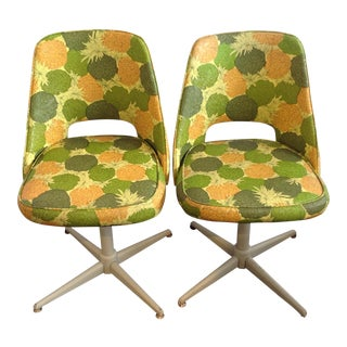Mid-Century Modern Swivel Chairs- A Pair