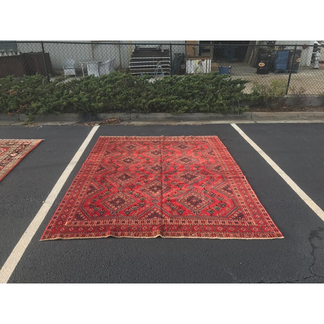"Vintage Persian Yalameh Area Rug - 7'8"" x 9'7"" - Image 2 of 11"