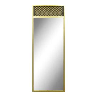 Vintage Mid-Century Modernist Brass Wall Mirror