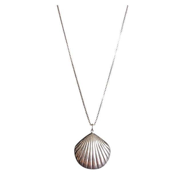 Image of Sterling Scallop Shell Pendant