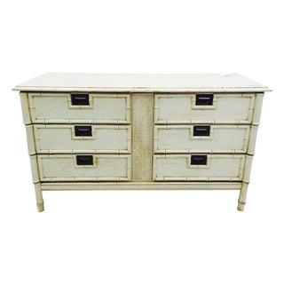 Vintage Palm Beach Chic Bamboo Style Dresser