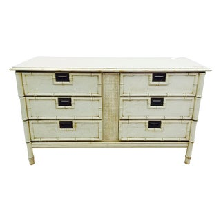 Vintage Palm Beach Chic Bamboo Style Dresser