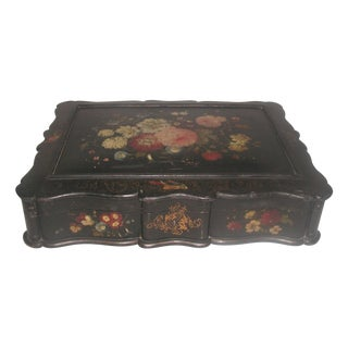 Antique French Hand-Painted Jewelry Box