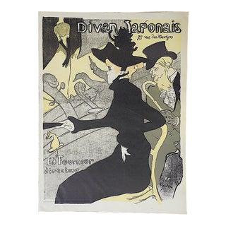"""Vintage Lautrec Lithograph """"Divan Japonais"""""""