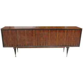 1940s Vintage French Art Deco Macassar Ebony Sideboard/Buffet