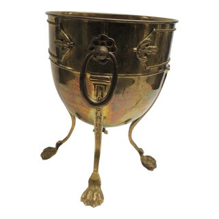 Vintage Footed Brass Champagne Cooler
