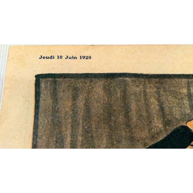 "Original 1920 ""En Promenade"" Fashion Print - Image 6 of 9"
