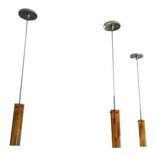 Hand Blown Glass Coax Low Voltage Pendants - Set of 3