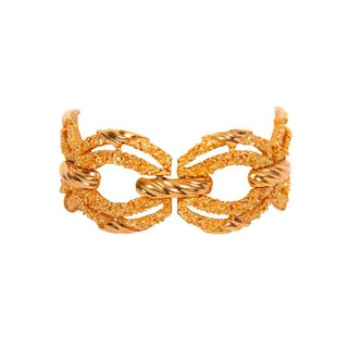 Trifari Gold Toned Textured Bracelet