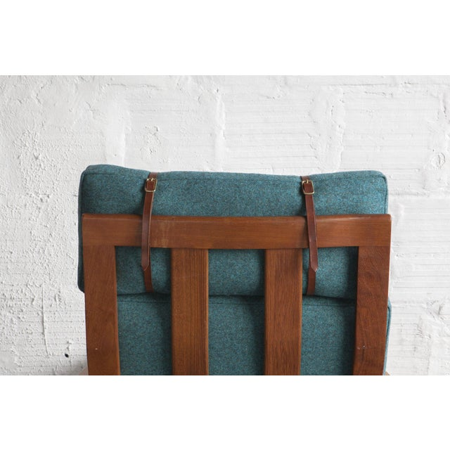 Danish High Back Lounge Chair & Ottoman - Image 9 of 10