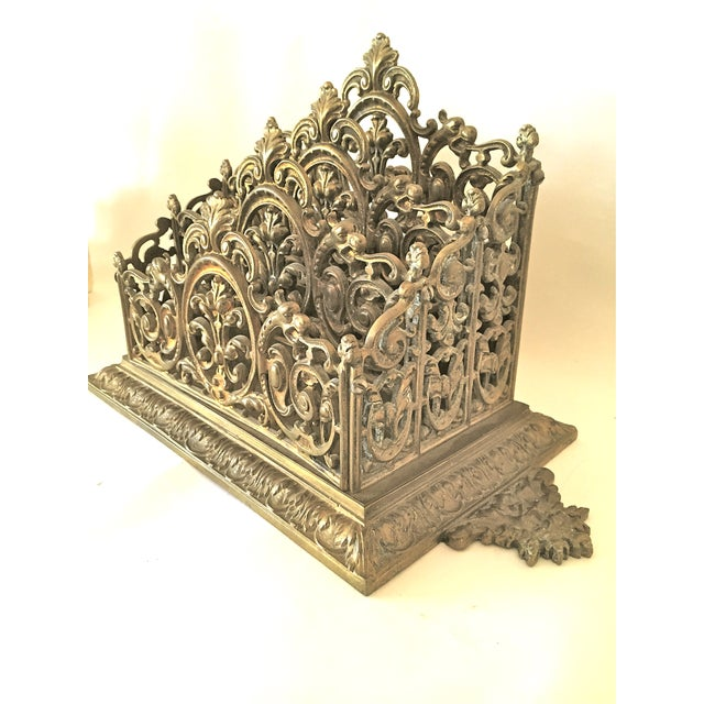 Victorian Brass Letter Holder - Image 5 of 7