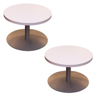 Modern Round Low Tables - Pair