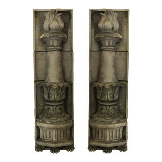 American Terracotta Pilasters - a Pair