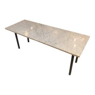 Sleek Marble Rectangular Coffee Table