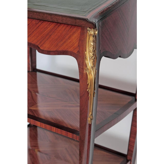 Louis XV Style Small Writing Desk / Table by Alfred Emmanuel Louis Beurdley - Image 6 of 11