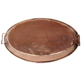 19th Century French Copper Oval Platter