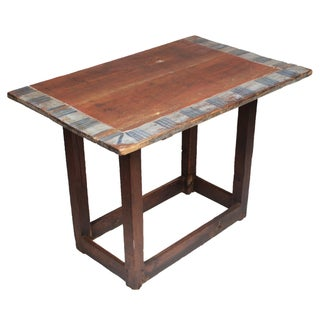 Antique Swedish Folk Art Style Table