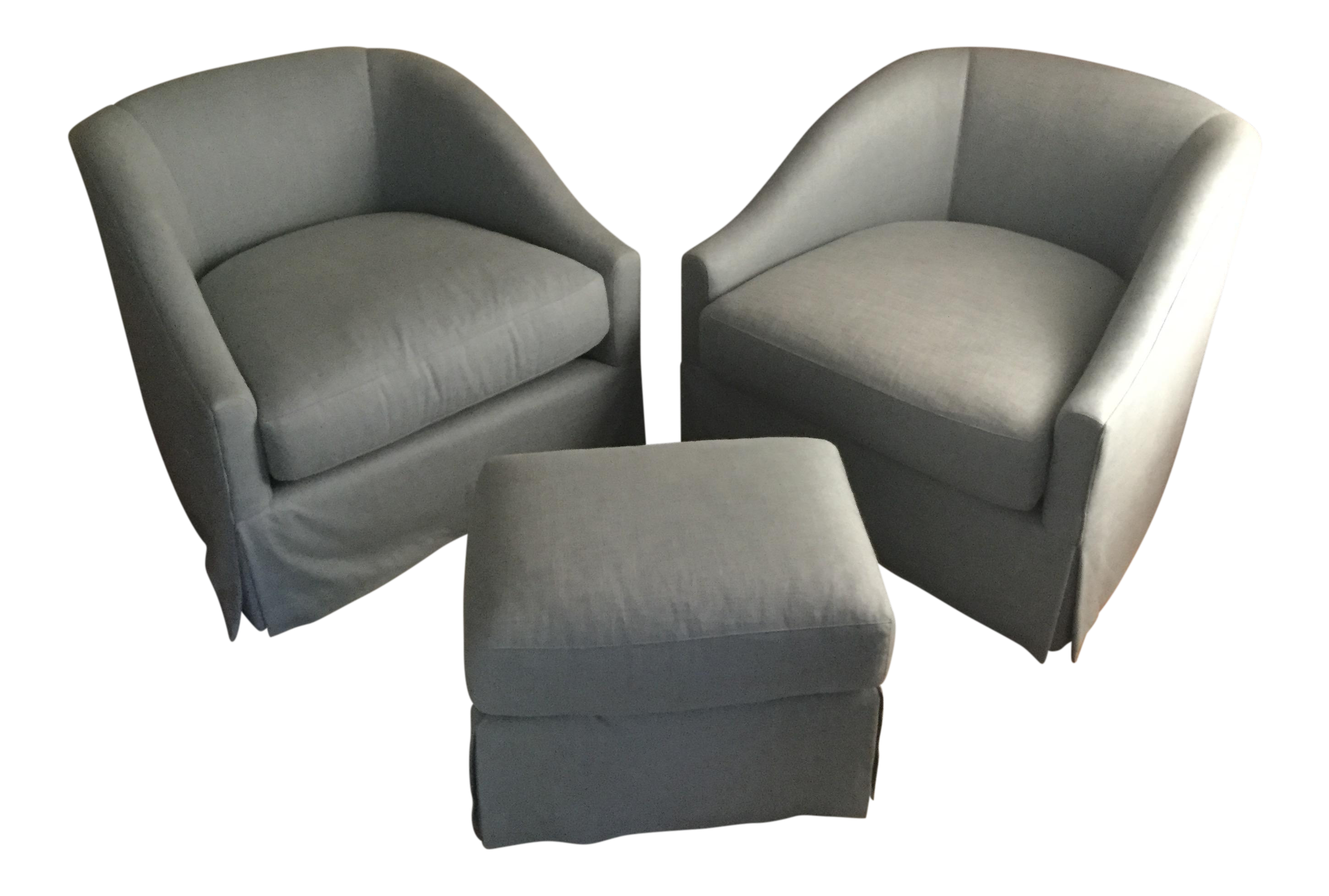 Upholstered Chair And Ottoman vintage & used chair & ottoman sets | chairish