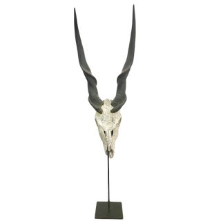 Rock Crystal & Swarovski Encrusted Skull on Stand