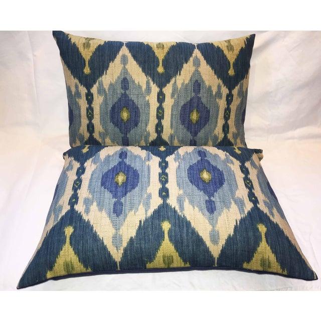 Oscar De La Renta Kublai Ikat Pillows - Pair - Image 4 of 5