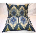 Image of Oscar De La Renta Kublai Ikat Pillows - Pair