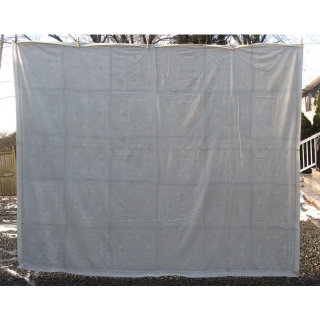 Image of Indian Mirrored Cotton Coverlet