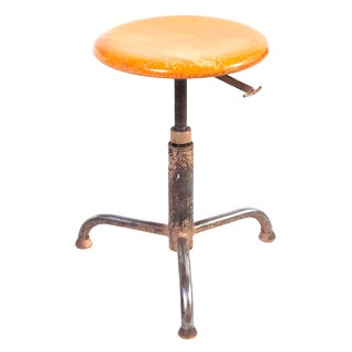 Vintage Industrial Swiss Architectural Stool II