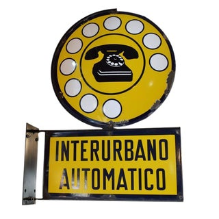 Italian Public Telephone Sign