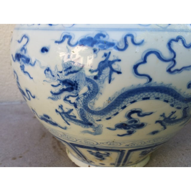 Chinese Handpainted Mythical Dragon Vases - A Pair - Image 7 of 7