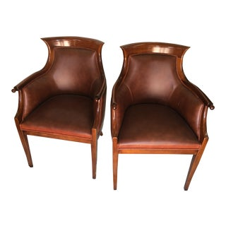 Pair Of Leather Beidermeier Style Chairs