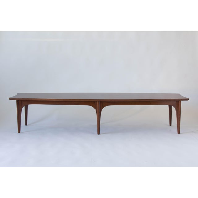 American Walnut & Rosewood Surfboard Coffee Table - Image 3 of 7