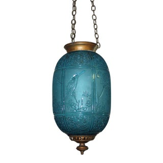 19th C. Authentic Baccarat France Hanging Lantern- Electrified
