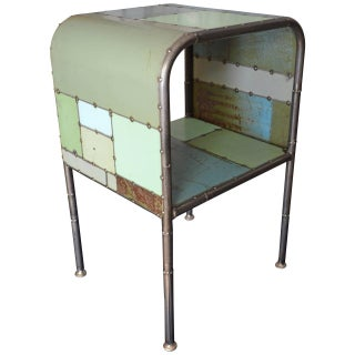 Locally-Sourced Reclaimed Steel Bedside Table