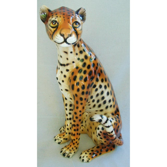 Large Hollywood Glam Mid-Century Italian Cheetah - Image 5 of 11