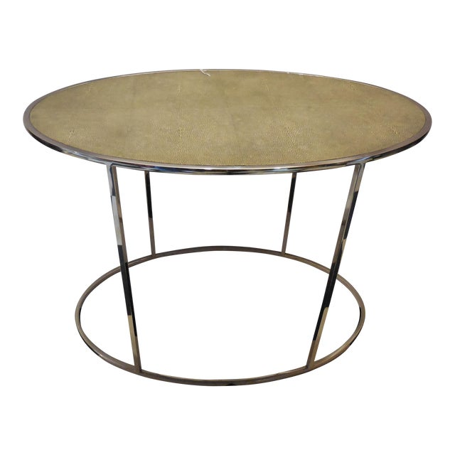 Theodore Alexander Oval Shagreen Top Table - Image 1 of 6