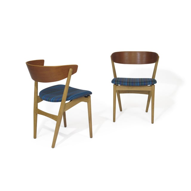 Bramin Teak and Oak Dining Chairs - Image 3 of 7