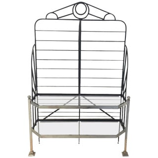 French Chrome and Glass Bakers Rack