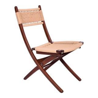 Mid-Century Danish Modern Rope Folding Chair