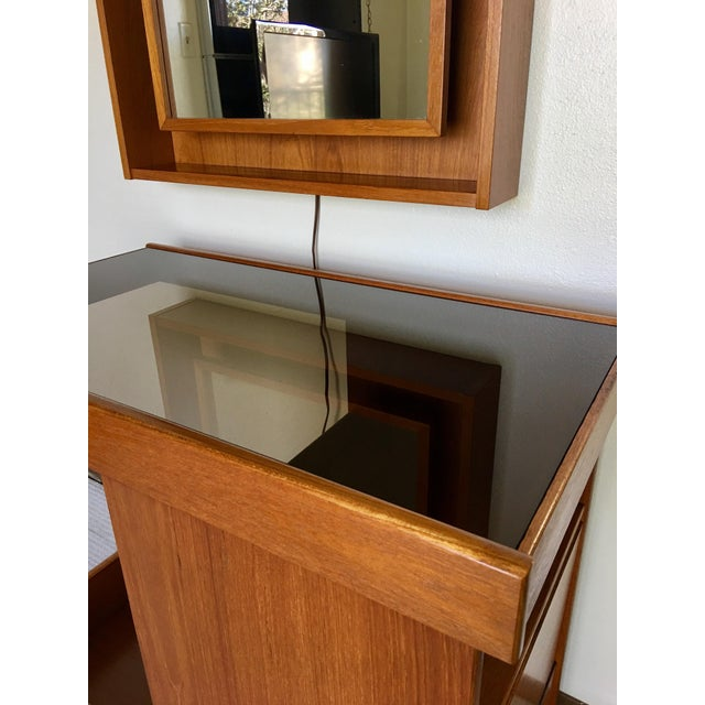 Pedersen & Hansen Bar Cart & Mirror - Image 4 of 11