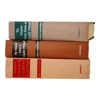 1950s Vintage Mark Twain Hardcover Books - Set of 3