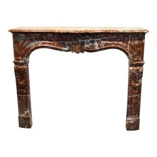 Louis XV Style Marble Mantel