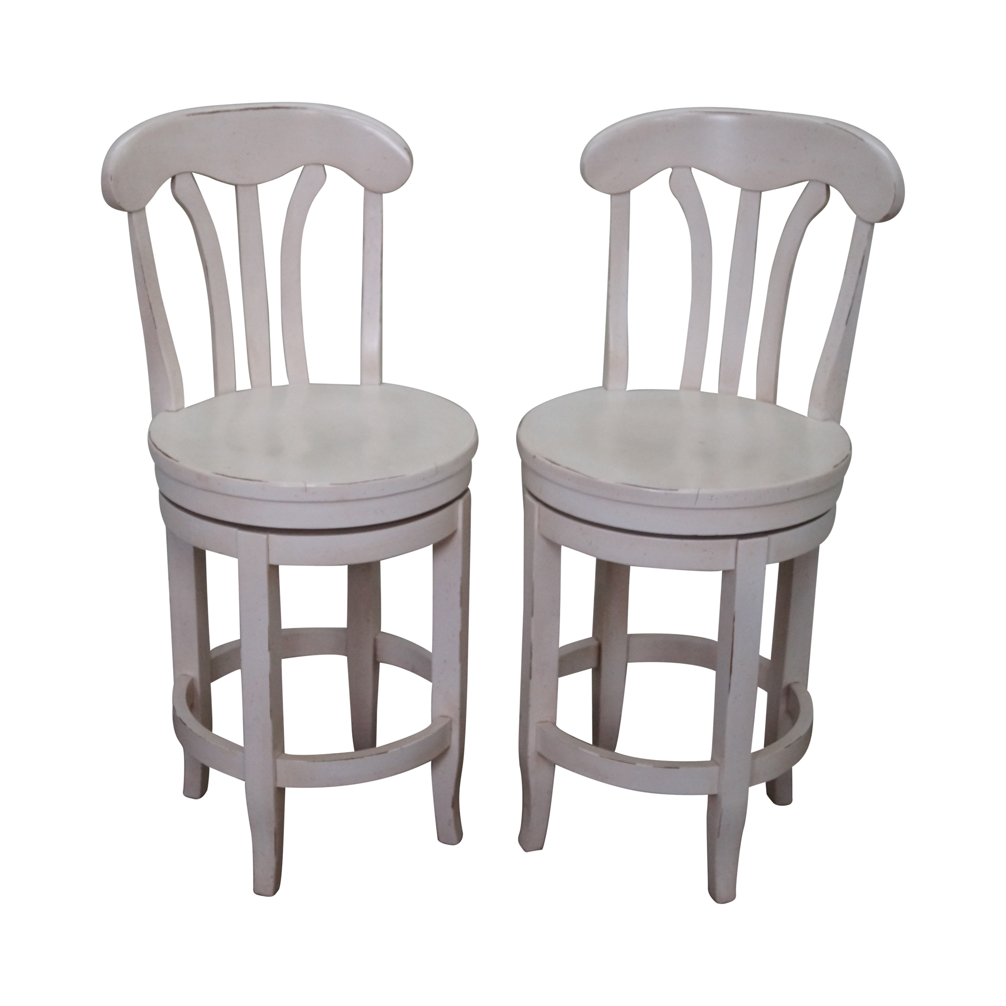 Vintage Amp Used White Counter Stools Chairish