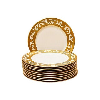 Carole Stupell Gilt Dinner Chargers - S/12