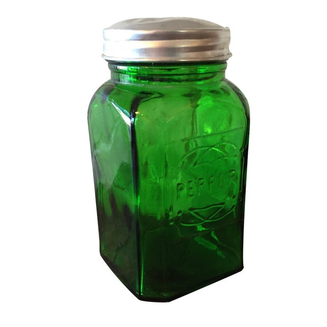 Green Depression Glass Pepper Shaker - Image 1 of 5