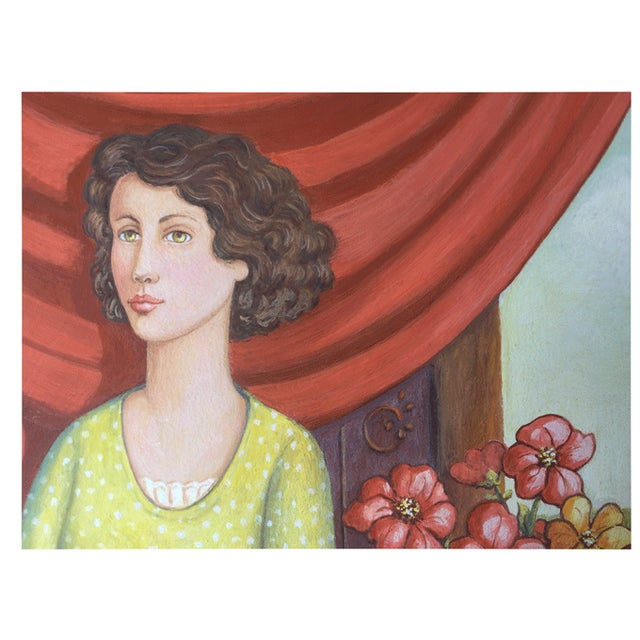 June Parrish Cookson Original Casein Painting - Image 5 of 6