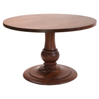 "48""  Sapele Pedestal Dining Table"